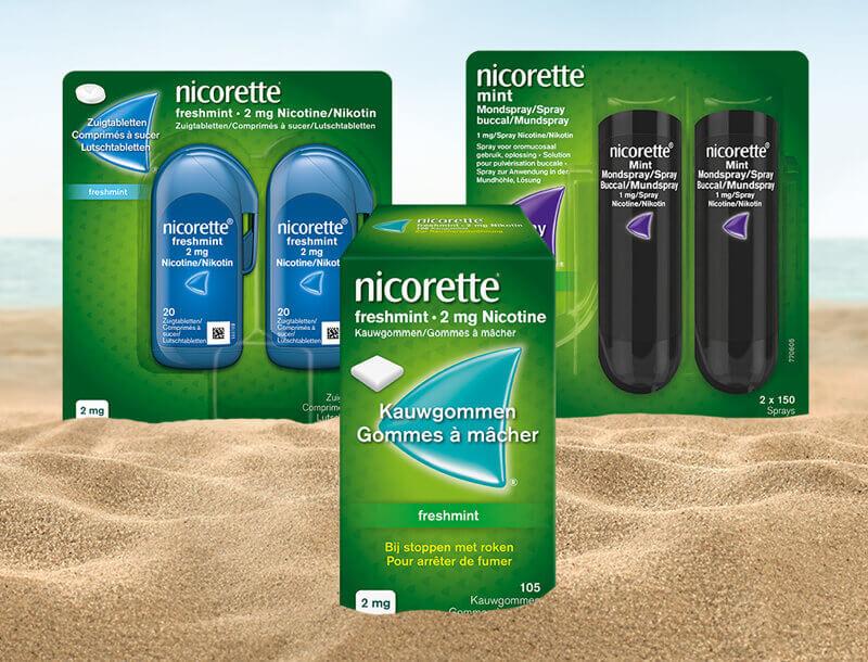 NICORETTE®: Produits pour les vacances